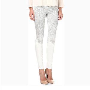 J BRAND Camelot White Ombré Jeans 28